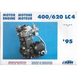 Manuel atelier moteur KTM 400 / 620 LC4 de 1995