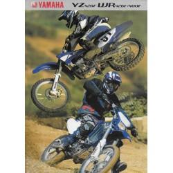 YAMAHA YZ 426 F / WR 426 F / 400 F de 2001 (prospectus)