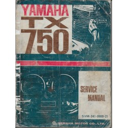 YAMAHA TX 750 modèle 1973 (Manuel atelier 01/ 1973)