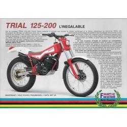 FANTIC TRIAL 125-200 de 1986 (prospectus)