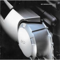 MZ gamme motos 2004 (affiche en allemand)