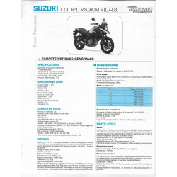 SUZUKI DL 650 V-Strom L7-L8 de 2007-2008 (Fiche RMT)