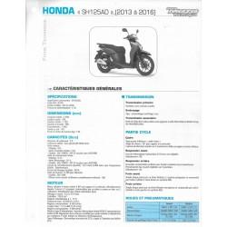 HONDA SH 125 AD de 2013 à 2016 (Fiche RMT)