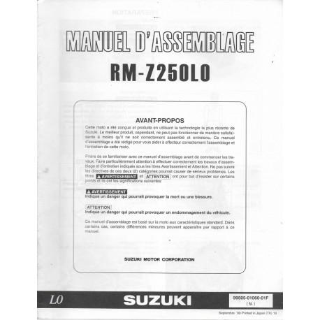 SUZUKI RM-Z 250 L0 de 2010 (manuel assemblage 09 / 2009)