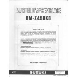 SUZUKI RM-Z 450 K8 de 2008 (manuel assemblage 10 / 2007)