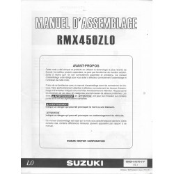 SUZUKI RMX 450 Z L0 de 2010 (manuel assemblage 10 / 2009)