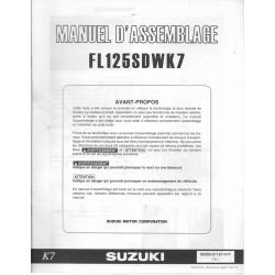 SUZUKI FL 125 SDW K7 de 2007 (manuel assemblage 02 / 07)