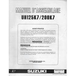 SUZUKI UH 125 K7 / 200 K7 de 2007 (manuel assemblage 09 / 2006)