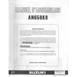 SUZUKI AN 650 K9 de 2009 (manuel assemblage 11 / 2008)