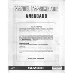 SUZUKI AN 650 AK9 de 2009 (manuel assemblage 01 / 2009)