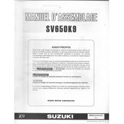 SUZUKI SV 650 K9 de 2009 (manuel assemblage 06 / 2008)