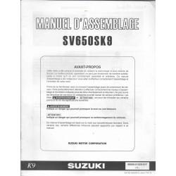 SUZUKI SV 650 SK9 de 2009 (manuel assemblage 06 / 2008)