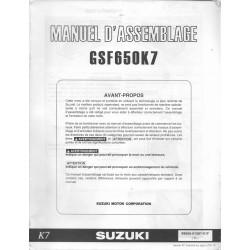 SUZUKI GSF 650 K7 de 2007 (manuel assemblage 01 / 2007)
