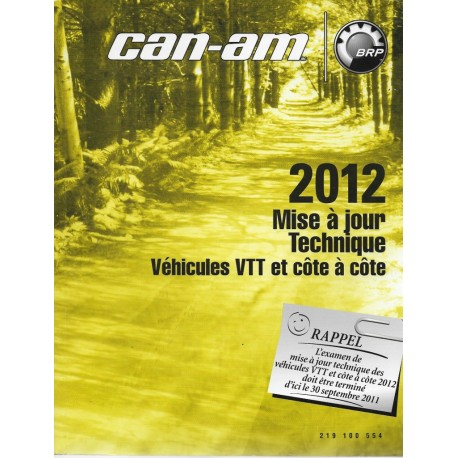 CAN-AM Mise à jour technique Quads 2012