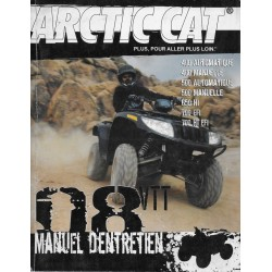 ARTIC CAT Quad VTT 400 / 500 / 650 / 700 de 2008