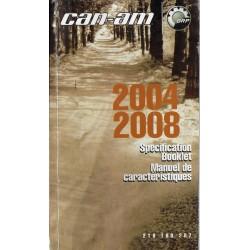 CAN-AM Manuel caractéristiques techniques 2004 / 2008
