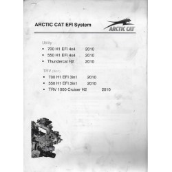 ARTIC CAT EFI System (notes internes atelier) 2010