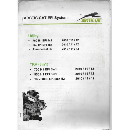 ARTIC CAT EFI System (notes internes atelier) 2012