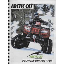 ARTIC CAT (politique SAV 2008 / 2009: document réseau)