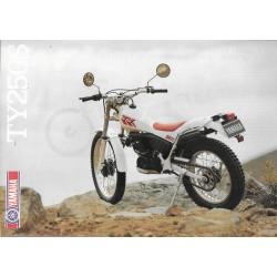 YAMAHA TY 250 S de 1988 (Prospectus)