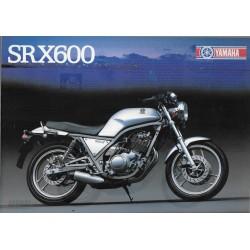 YAMAHA SRX 600 de 1986 (Prospectus)
