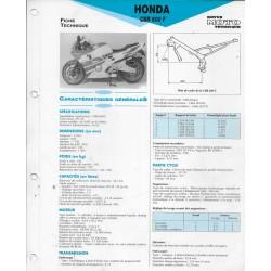 HONDA CBR 600 F (1991-92) fiche E.T.A.I