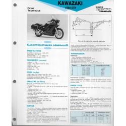 KAWASAKI 1000 GTR (1986-92) fiche technique E.T.A.I