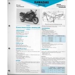 KAWASAKI ZZ-R 1100 (1990-92) fiche technique E.T.A.I
