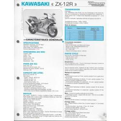 KAWASAKI ZX-12R (2000/2001) fiche technique E.T.A.I