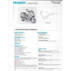 PEUGEOT SATELIS 250 (2006-10) fiche technique RMT