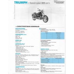 TRIUMPH Speedmaster 865cc (2008-10) Fiche technique RMT