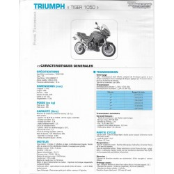 TRIUMPH TIGER 1050 (2006-2010) fiche technique RMT