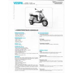 VESPA GTS 125 (2008-2010) fiche technique RMT