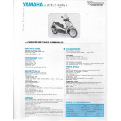 YAMAHA VP 125 X-City (2008) fiche technique RMT