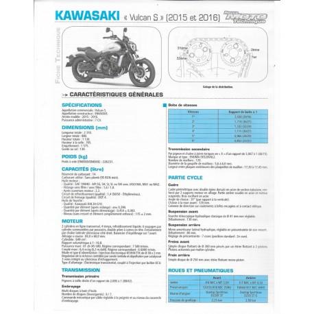 KAWASAKI VULCAN S (2015 et 2016) fiche RMT