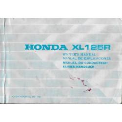 HONDA XL 125 R (manuel utilisateur 03 / 1986)