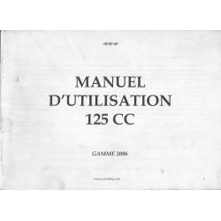 YCF 125 de 2006 (manuel utilisateur en français)
