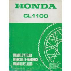 HONDA GL 1100 ASPENCADE de 1982 (manuel atelier 12 / 82)