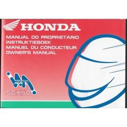 HONDA SGX 50 SKY 1997 (manuel utilisateur 01 / 1997)